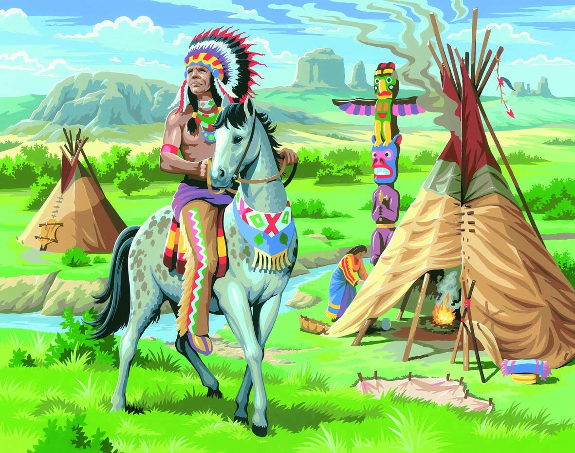 Картинки для детей про индейцев